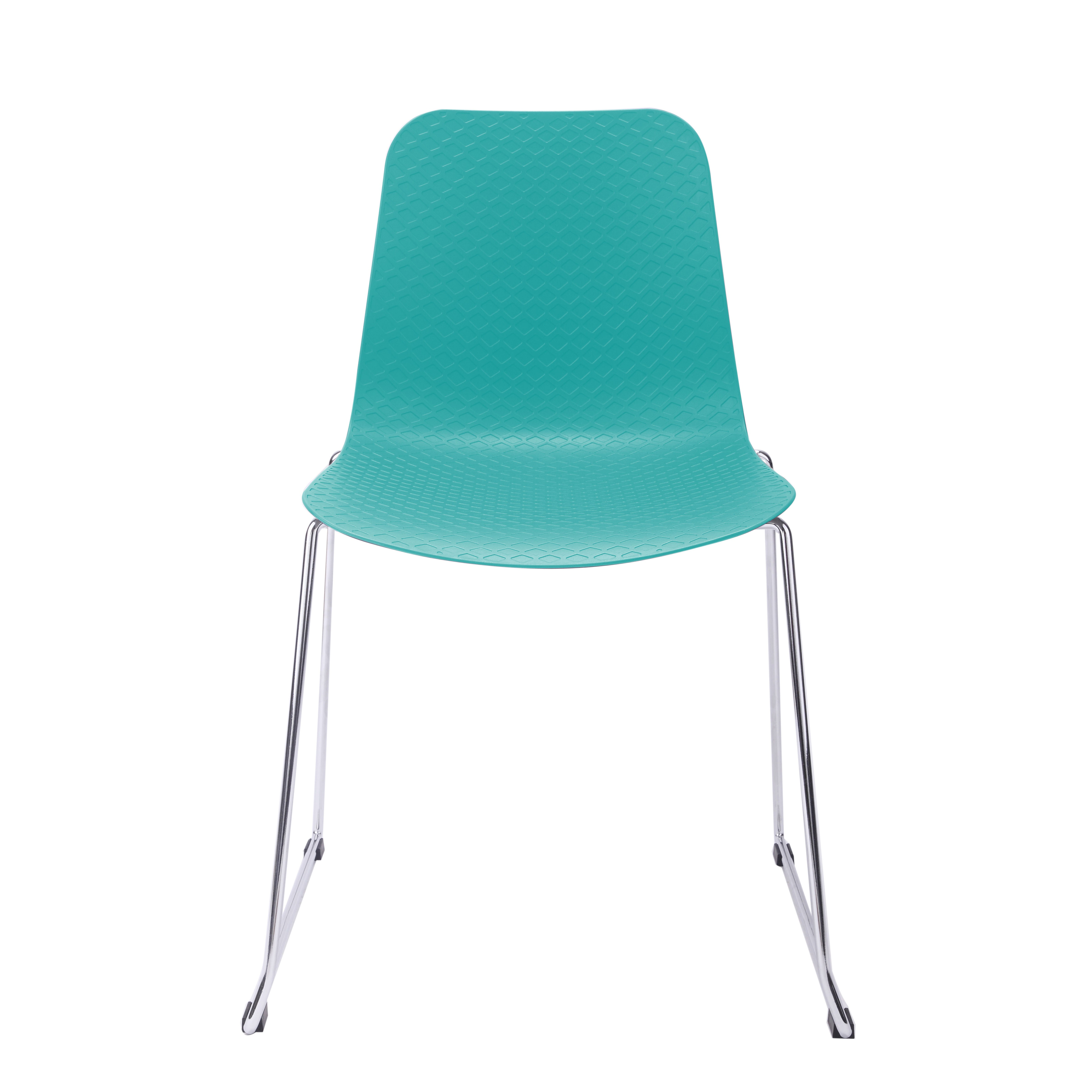 Hebe series turquoise dining shell side chair molded plastic steel metal legs - Duidelijk plastic stoel ...