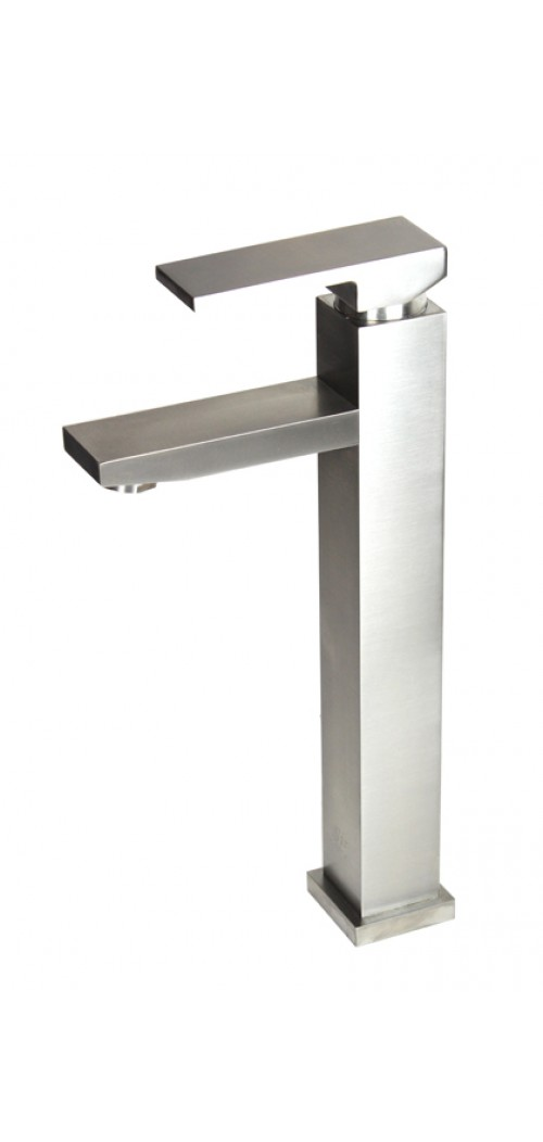 Lead Free Brushed Nickel Bathroom Lavatory Vessel Sink Faucet - 12-1/4 x 9 Inch