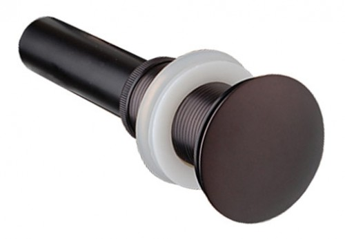 Oil Rubbed Bronze Bathroom Pop-up Drain without Overflow-1