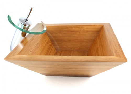 Guardian - Bamboo Countertop Bathroom Lavatory Vessel Sink  - 16-3/4 x 16-3/4 x 5-3/4 Inch