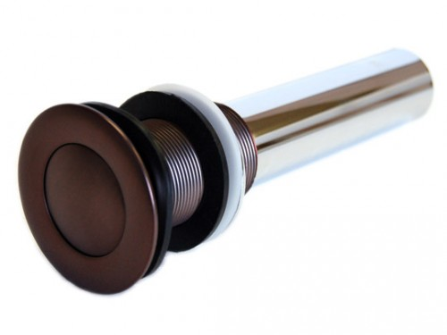 1-1/2 Inch Oil Rubbed Bronze Bathroom Pop-up Drain without Overflow