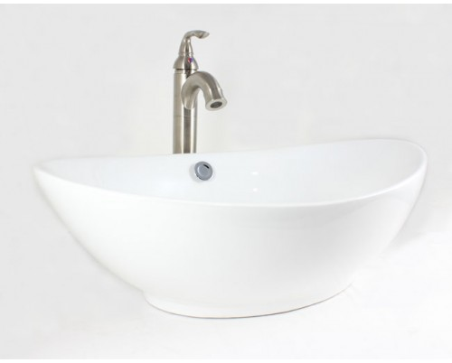 White / Biscuit / Black Porcelain Ceramic Countertop Bathroom Vessel Sink - 23-1/4 x 15-1/4 x 7-1/2 Inch