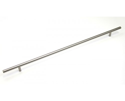 "Euro 45-1/8 inch (1150 mm) Cabinet Stainless Steel Handle Bar Pull with 29-1/2"" Inch (749 mm) Hole to Hole Spacing"