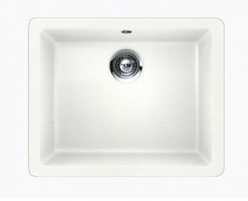 White Quartz Composite Single Bowl Undermount / Drop In Kitchen Sink - 21-5/8 x 16-15/16 x 8 Inch