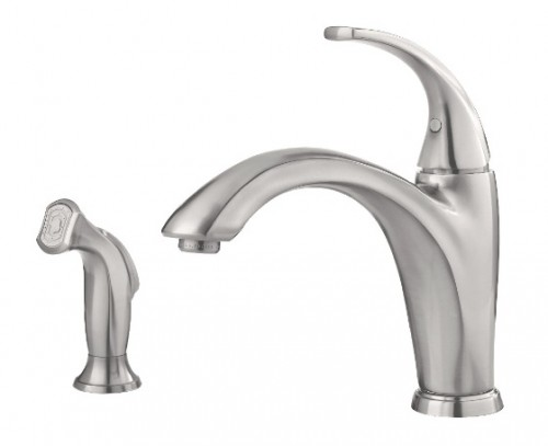 Pfister Selia Single Handle Lead Free Kitchen Faucet With Soap Dispenser