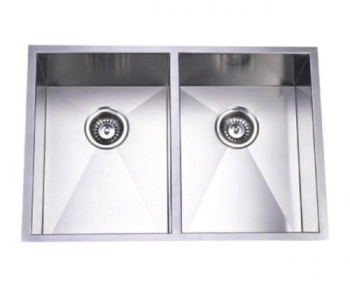 29 Inch Stainless Steel Undermount 50/50 Double Bowl Kitchen Sink Zero Radius Design