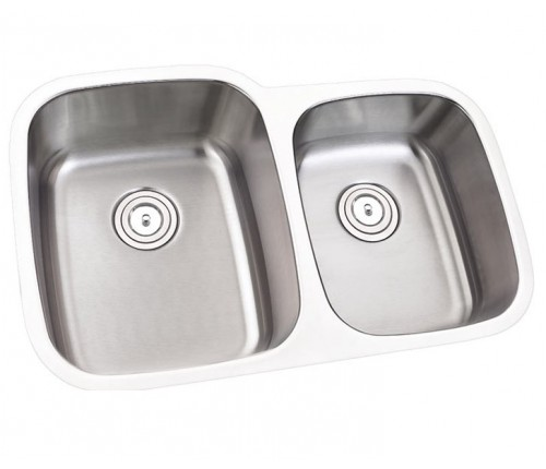 32 Inch Stainless Steel Undermount 60/40 Double Bowl Kitchen Sink - 16 Gauge
