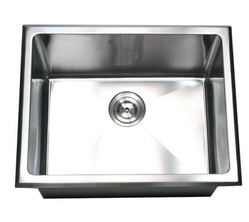 23 Inch Drop-In Stainless Steel Single Bowl Kitchen / Utility / Laundry Sink 15mm Radius Design