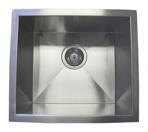 17 Inch Stainless Steel Undermount Single Bowl Kitchen / Bar / Prep Sink Zero Radius Design