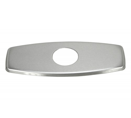 Bathroom Single Hole Sink Faucet Cover Deck Plate Escutcheon with Square Corners - Brushed Nickle