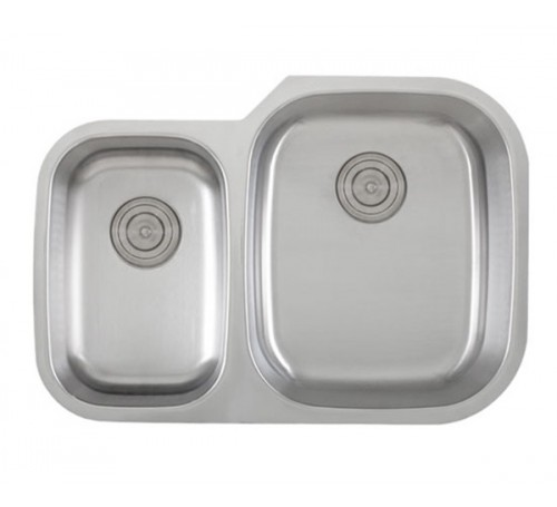 30 Inch Stainless Steel Undermount 40/60 Double Bowl Kitchen Sink - 18 Gauge