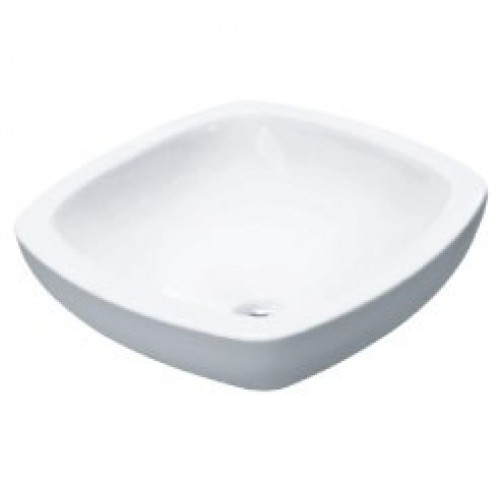 17-5/16 Inch White Porcelain Ceramic Countertop Bathroom Vessel Sink