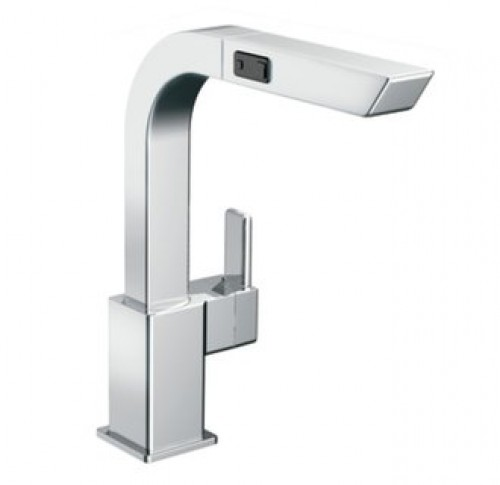 Moen 90 Degree Lead Free Single Handle Pull Out Kitchen Faucet
