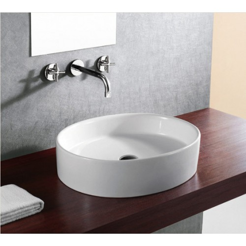 European Style Oval Shape Porcelain Ceramic Bathroom Vessel Sink - 22 x 14 x 5-5/8 Inch