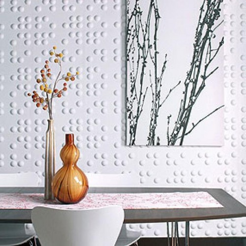 Braille Pattern Design 3D Glue On Wall Panel / Wall Flats - Box of 10 (22.50 sqft)