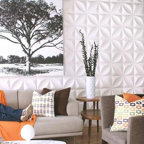 Chrysalis Pattern Design 3D Glue On Wall Panel / Wall Flats - Box of 10 (26.67 sqft)
