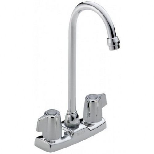 Delta Classic Blade Lead Free Two Handle Polished Chromel Bar Faucet