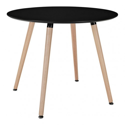 DSW Black Round Dining Table