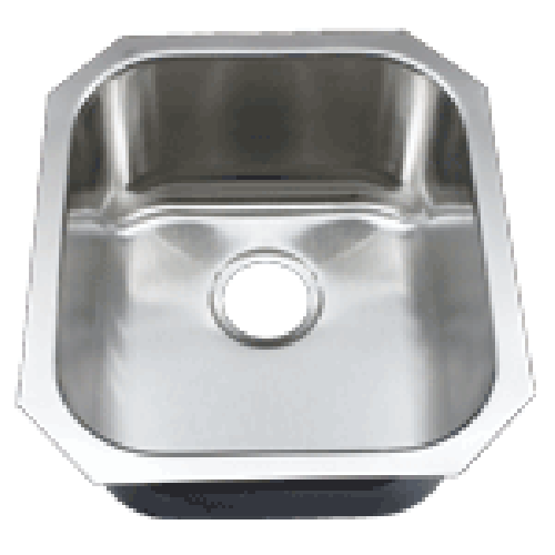 16 Inch Stainless Steel Undermount Single Bowl Kitchen / Bar / Prep Sink - 18 Gauge