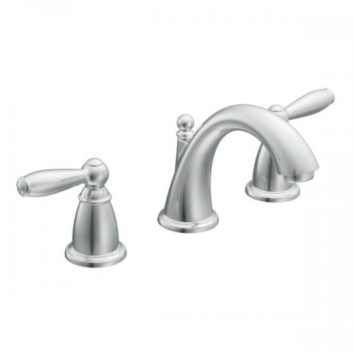 Moen Brantford Lead Free 3 Hole High Arc Bathroom Faucet Polished Chrome Finish
