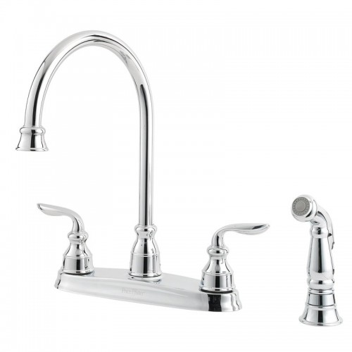 Pfister Avalon Two Handle Widespread Lead Free Kitchen Faucet With Side Spray
