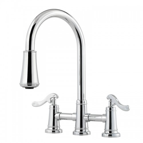 Pfister Ashfield Two Handle Widespread Lead Free Pull Out Kitchen Faucet