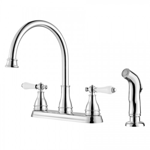 Pfister Sonterra Two Handle Widespread Lead Free Kitchen Faucet With Side Spray