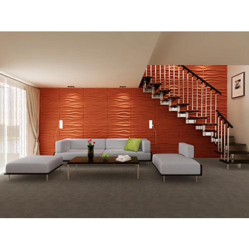 Wave Design 3D Glue On Wall Panel - Box of 6 (32.18 sqft)