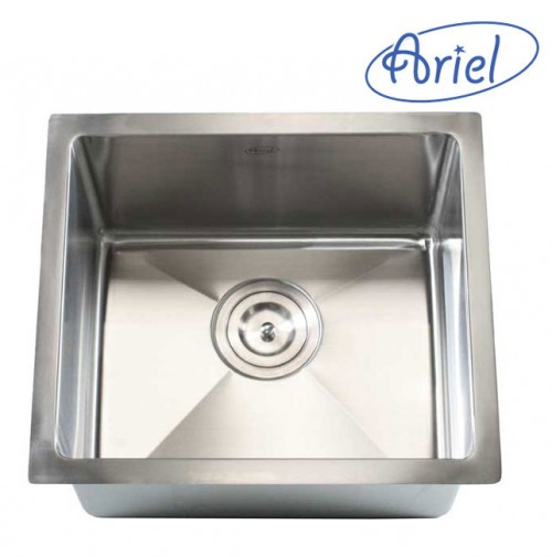 17 Inch Stainless Steel Undermount Single Bowl Kitchen / Bar / Prep Sink 15mm Radius Design - 16 Gauge