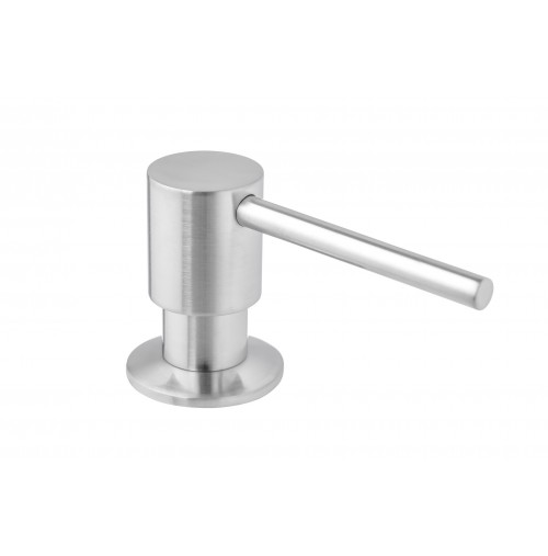 Ariel Built in Round Solid Brass Pump Deck Mount Modern Hand / Dish Soap Dispenser Stainless Steel Brushed Nickel – All Metal Construction