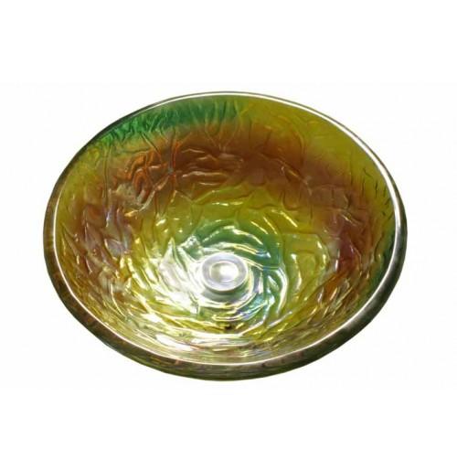 Levana Design Glass Countertop Bathroom Lavatory Vessel Sink - 16-1/2 x 5-3/4 Inch