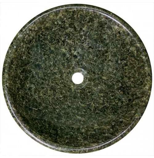 Uba Tuba Granite Stone Undermount / Drop In / Countertop Bathroom Lavatory Vessel Sink - 17-1/4 x 5 Inch