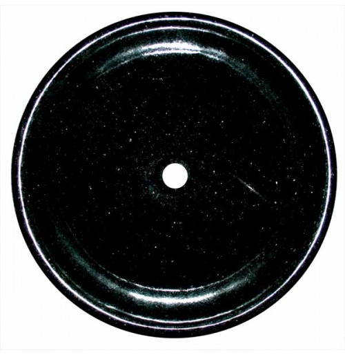 Black Galaxy Granite Stone Undermount / Drop In / Countertop Bathroom Lavatory Vessel Sink - 17-1/4 x 5 Inch