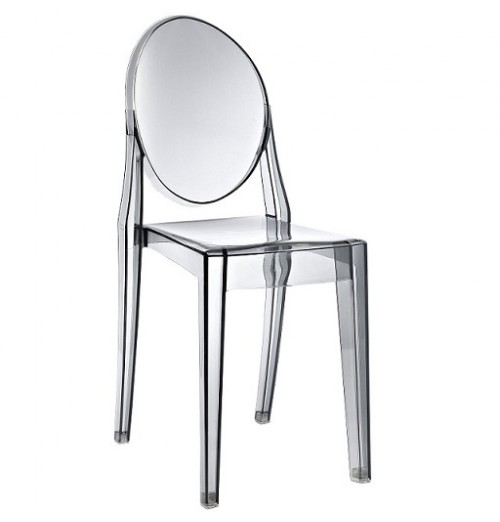 Victoria Style Ghost Dining Chair Smoke Color