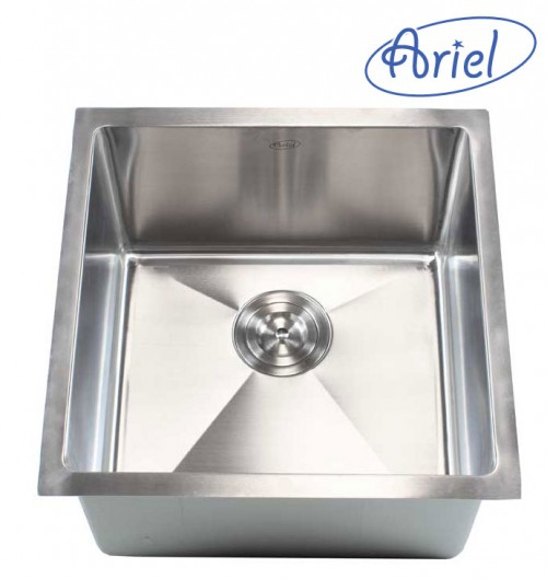 18 Inch Stainless Steel Undermount Single Bowl Kitchen / Bar / Prep Sink 15mm Radius Design - 16 Gauge