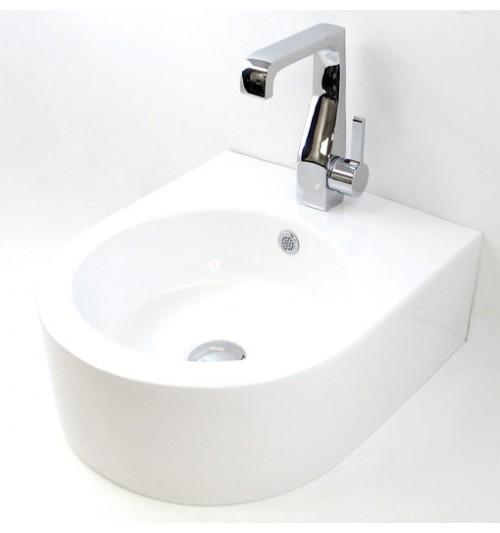Porcelain Ceramic Single Hole Bathroom Sink - 22 x 18 x 6-1/2 Inch-1