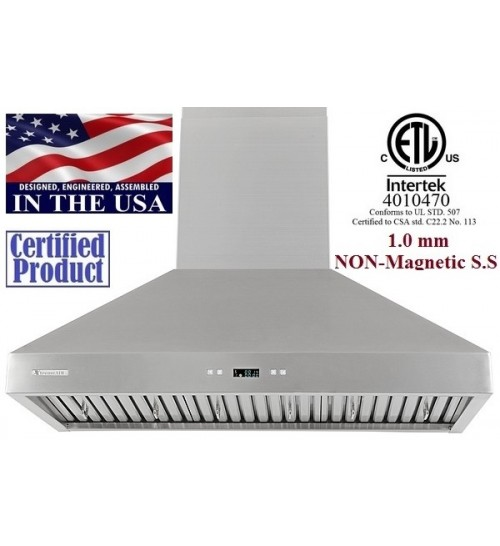 XtremeAIR 36 Inch Wall Mount Stainless Steel Range Hood PX03-W36