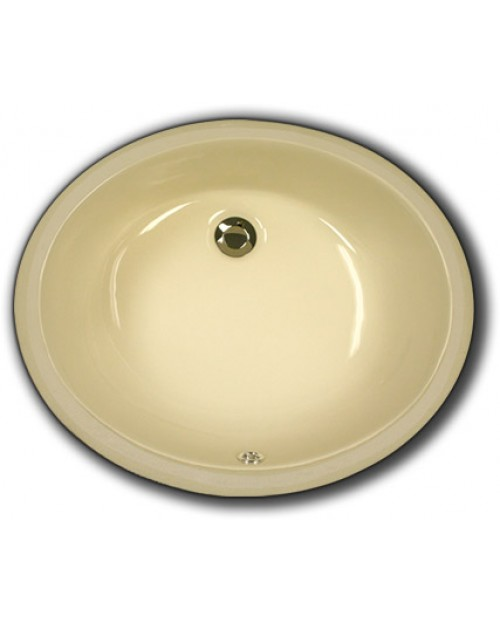 Biscuit Porcelain Ceramic Vanity Undermount Bathroom Vessel Sink - 17 x 14 x 6 Inch