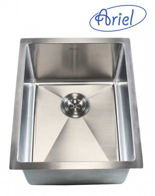 16 Inch Stainless Steel Undermount Single Bowl Kitchen / Bar / Prep Sink 15mm Radius Design - 16 Gauge