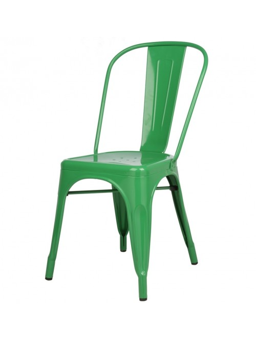 Tolix Style Metal Industrial Loft Designer Green Cafe Chair