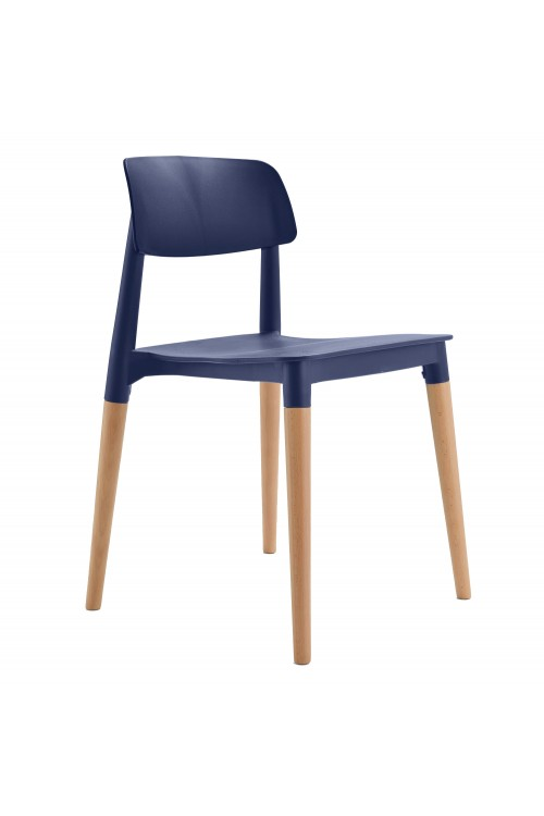 Bel Navy Dining Bistro Cafe Modern Minimalist Side Chair