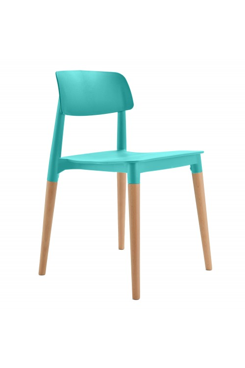 Bel Turquoise Dining Bistro Cafe Modern Minimalist Side Chair
