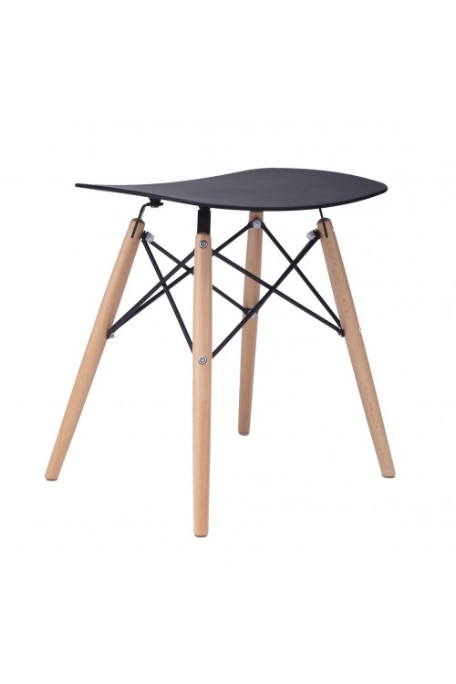 Door 18 Inch DSW Black Stool