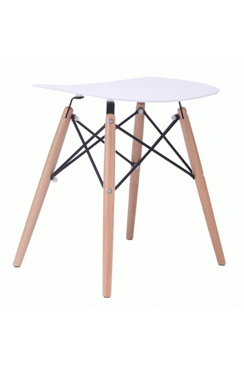 Door 18 Inch Eames Style DSW White Stool