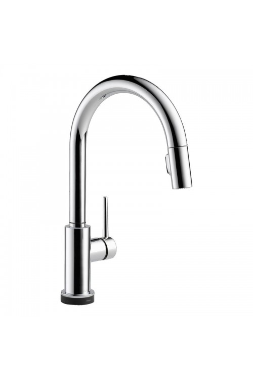Delta Trinsic Lead Free Single Handle Pull Out Kitchen Faucet Featuring Touch2O Technology