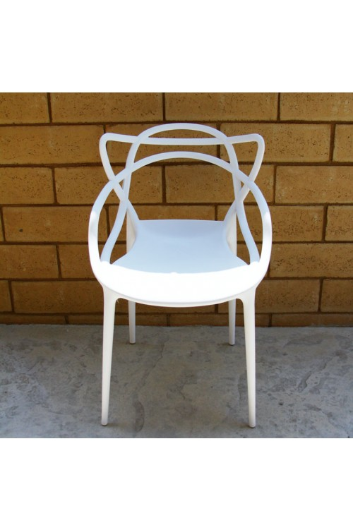 Modern Masters Designer Dining Chair In White