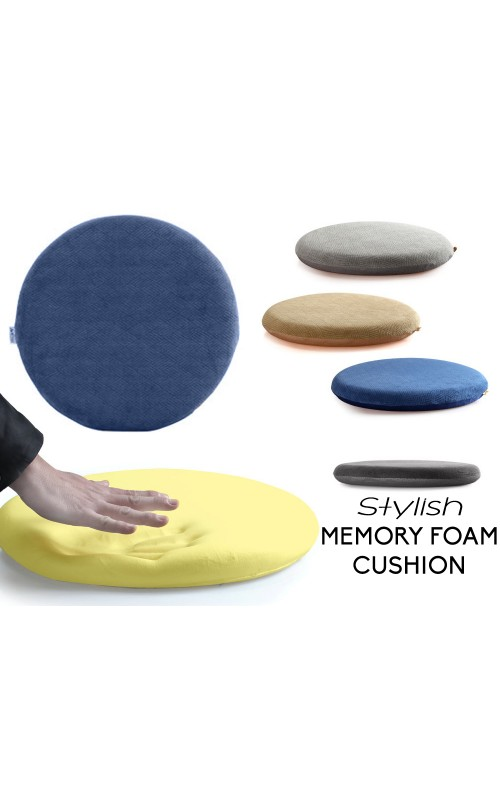 Eames Style Memory Foam Seat Cushion - Premium Modern Large Non-Slip Dining / Office Chair Pad - Relieve Stress