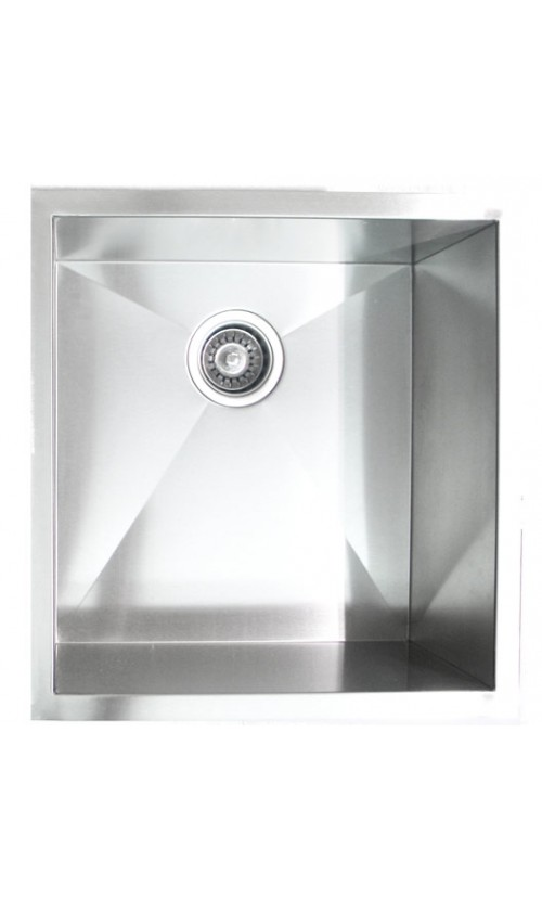 19 Inch Stainless Steel Undermount Single Bowl Kitchen / Bar / Prep Sink Zero Radius Design