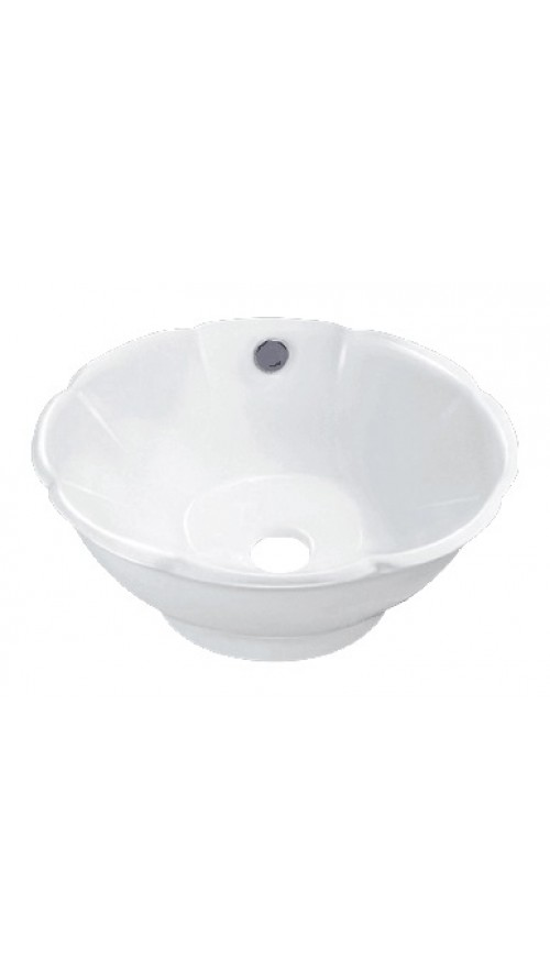 17-3/4 Inch Porcelain Ceramic Single Hole Countertop Bathroom Vessel Sink