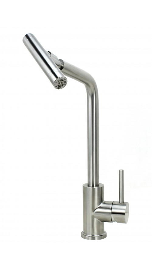 Ariel Crane Stainless Steel Lead Free Single Handle Nozzle Sprayer Kitchen Faucet